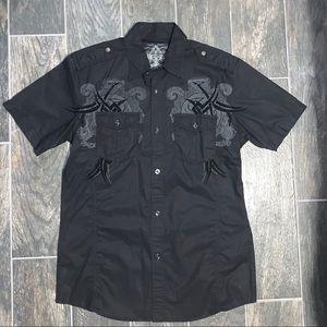 Roar Short Sleeve Button Down Shirt